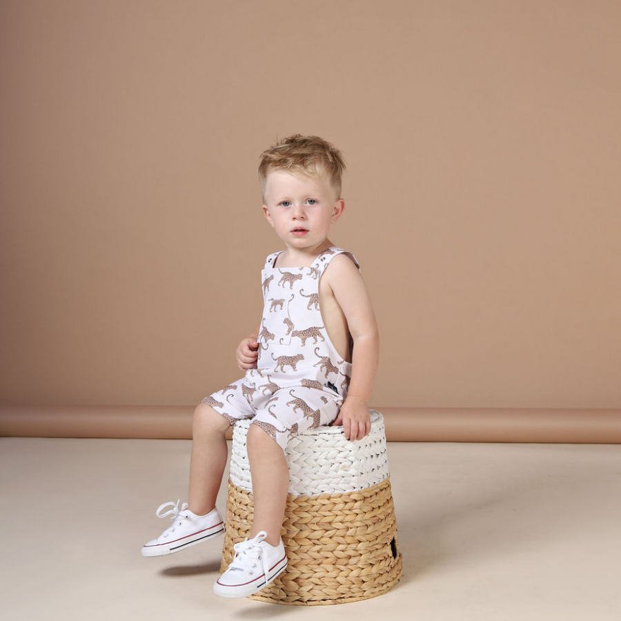 KaPow Kids Leopard Overalls - Annie and Islabean