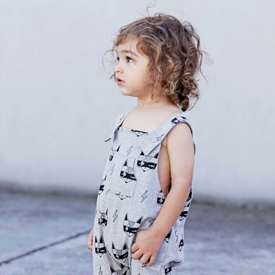 Super Fox Overalls - Grey Marle