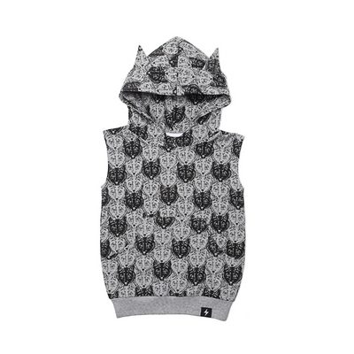 KaPow Kids Wolf Camo Hooded Vest