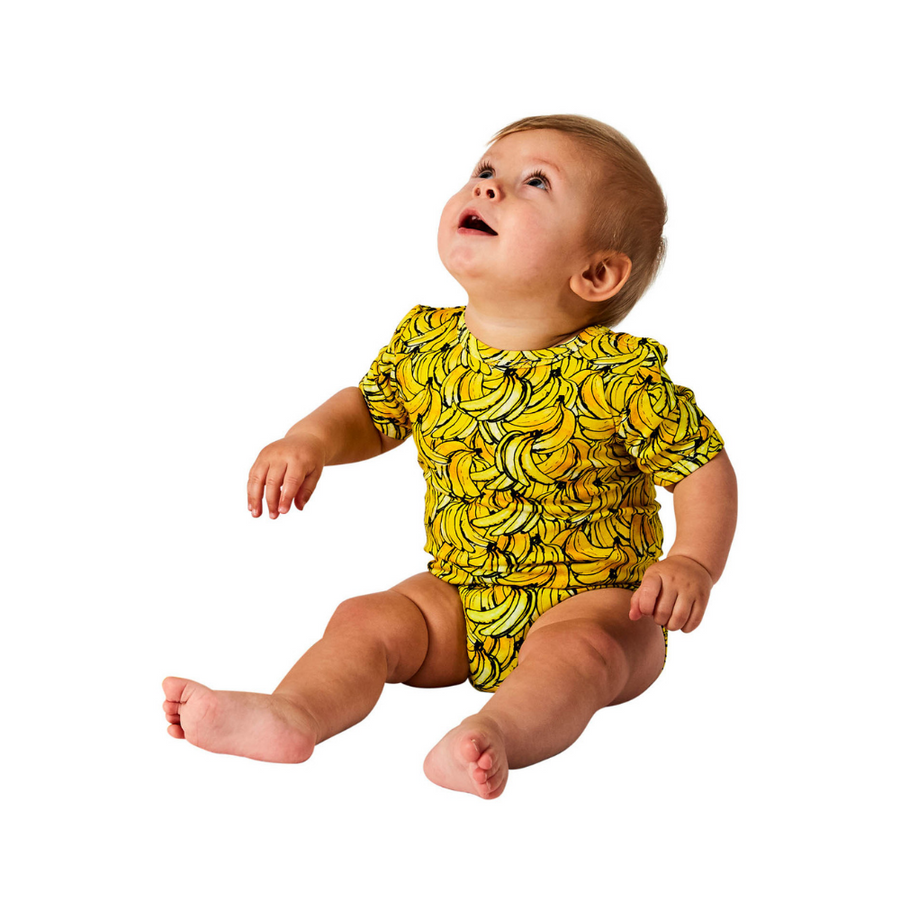 Kip & Co Banana Organic Short Sleeve Romper - Annie and Islabean