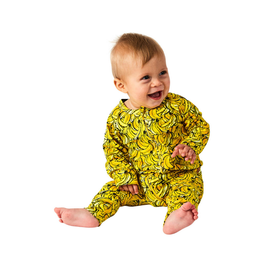 Kip & Co Banana Organic Zip Romper - Annie and Islabean