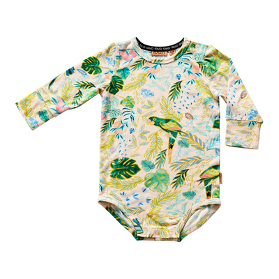 Kip & Co Birds Of Paradise Organic Long Sleeve Romper - Annie and Islabean