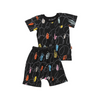 Kip & Co Chalkboard Black Short Sleeve PJ Set - Annie and Islabean