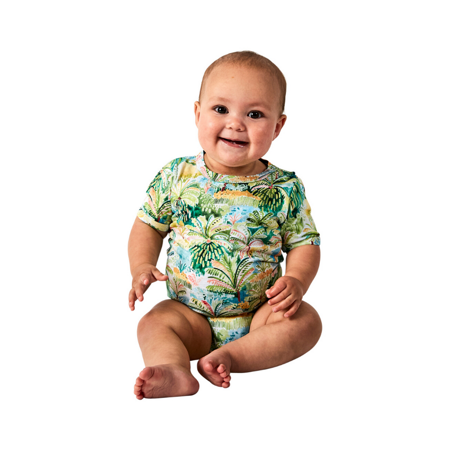 Kip & Co Colombo Organic Short Sleeve Romper - Annie and Islabean