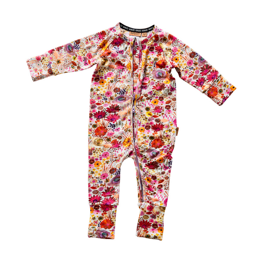 Kip & Co Field Of Dreams Organic Zip Romper - Annie and Islabean