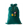 Kip & Co Jade Green Velvet Santa Sack