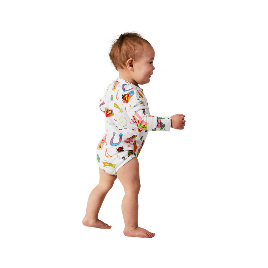 Kip & Co Lucky Organic Long Sleeve Romper - Annie and Islabean