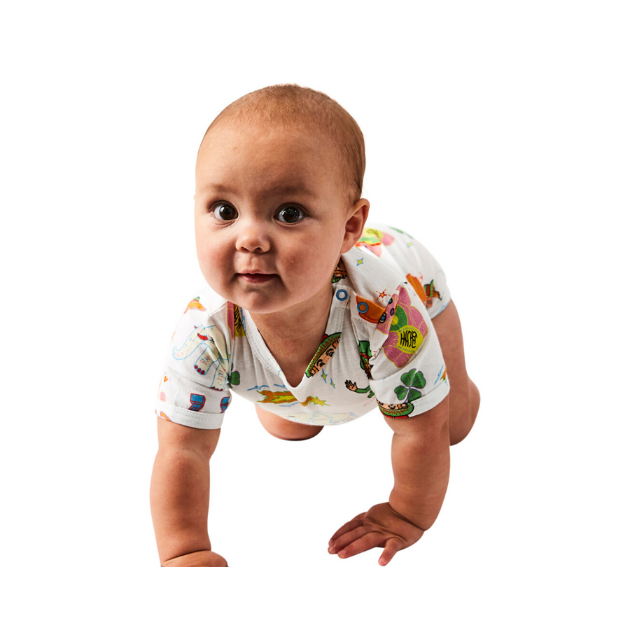 Kip & Co Lucky Organic Short Sleeve Romper - Annie and Islabean