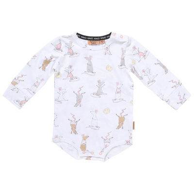 Kip & Co Mousing Around Organic Long Sleeve Romper - Annie and Islabean