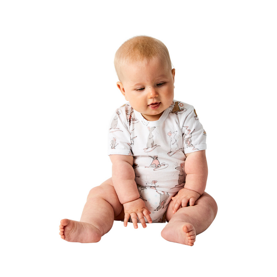 Kip & Co Mousing Around Organic Short Sleeve Romper