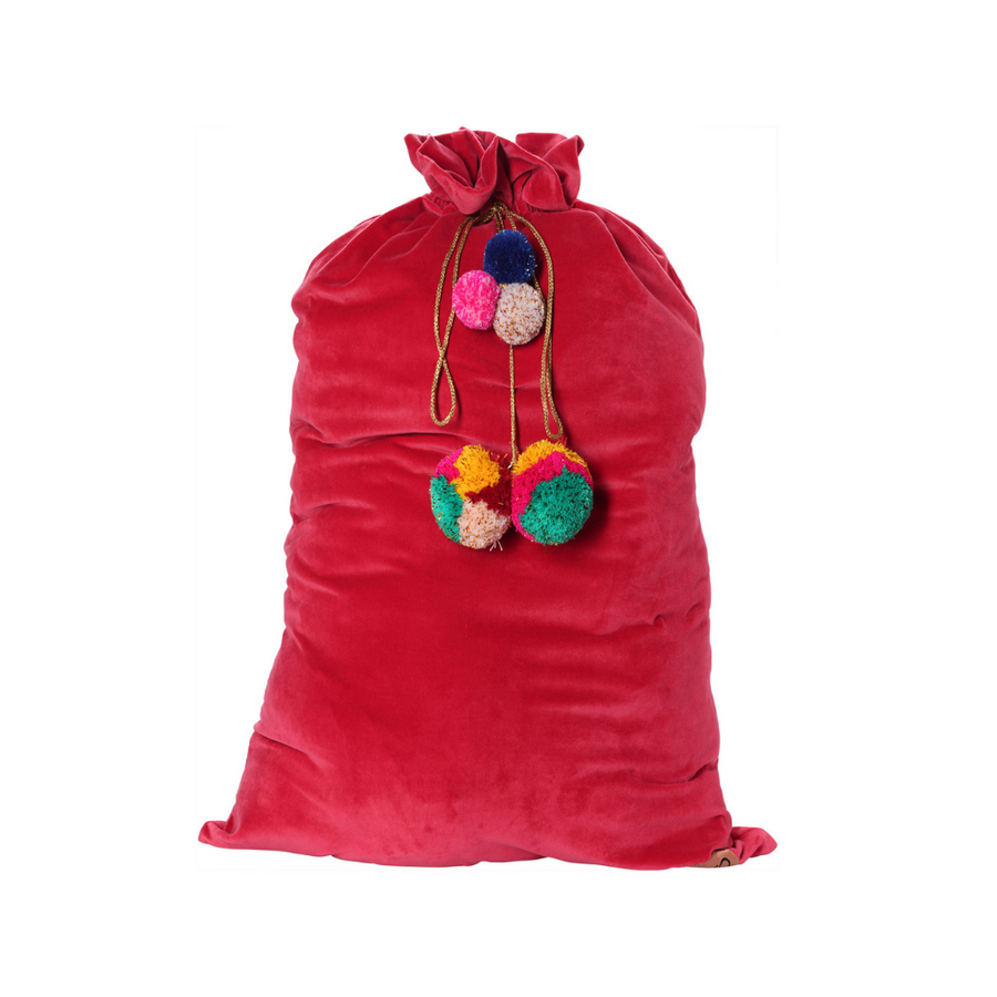 Kip & Co Red Velvet Santa Sack