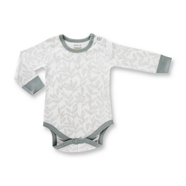 Laurel Leaf Long Sleeve Bodysuit, Bodysuit, Sapling Child - Annie and Islabean