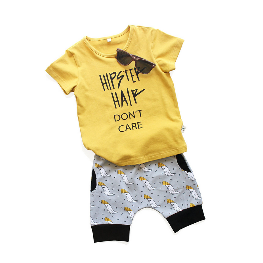 Lil HipStar Henry Cockatoo Harem Shorts - Annie and Islabean