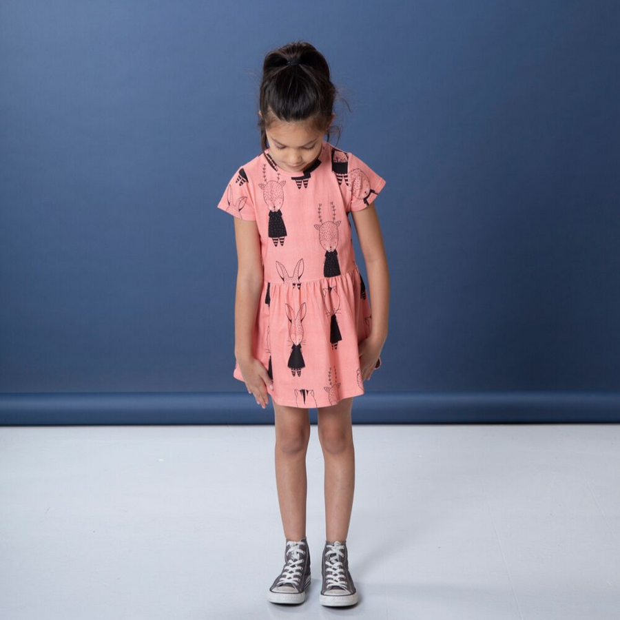 Littlehorn Forest Friends Dress - Annie and Islabean