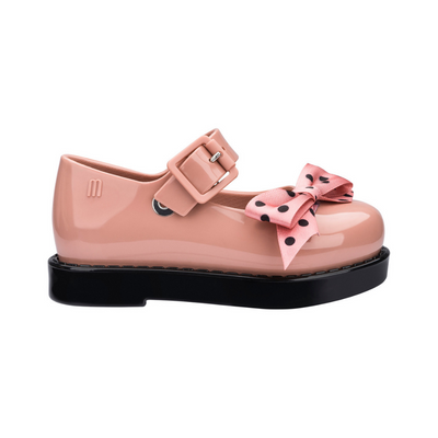 Mini Melissa Maggie Bow - Tan Gloss - Annie and Islabean