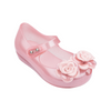 Mini Melissa Ultragirl + Flower BB - Pink Glitter Translucent