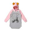 Minti Bear On A Bike Furry Hoodie Dress