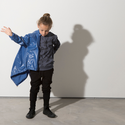Minti High Shine Anorak - Electric Blue - Annie and Islabean
