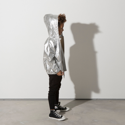Minti High Shine Anorak - Silver - Annie and Islabean