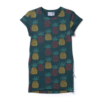 Minti Pineapples Rolled Up Tee Dress - Annie and Islabean