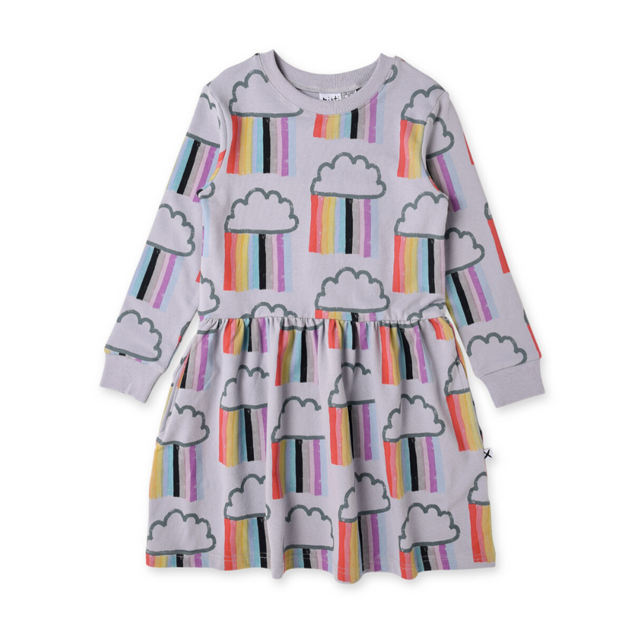 Pre-order Minti Raining Rainbows Sweater Dress - Annie and Islabean