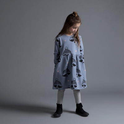 Pre-order Minti Rugged Up Racoon Furry Dress