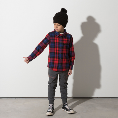 Minti Snappy Flannel Shirt - Red Check - Annie and Islabean