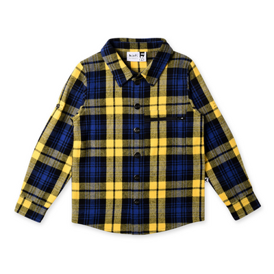 Minti Snappy Flannel Shirt - Yellow Check - Annie and Islabean