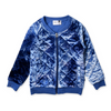Minti Velvet Quilted Bomber - Blue Tie Dye - Annie and Islabean