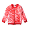 Minti Velvet Quilted Bomber - Red Tie Dye - Annie and Islabean