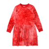 Pre-order Minti Velvet Sweater Dress - Red Tie Dye - Annie and Islabean