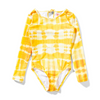 Missie Munster Fireball One Piece Long Sleeve - Yellow Tie Dye - Annie and Islabean