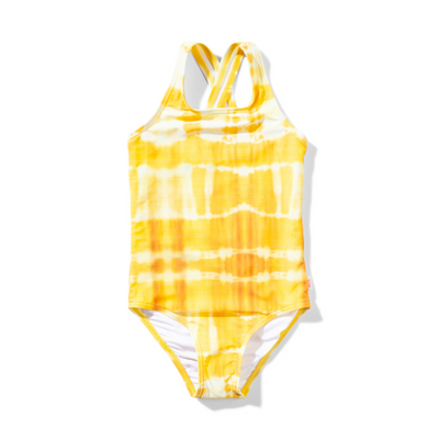 Missie Munster Glaze One Piece - Yellow Tie Dye - Annie and Islabean