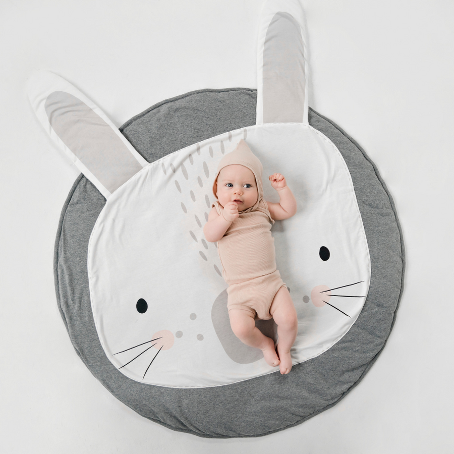 Grey Bunny Playmat, Mister Fly - Annie and Islabean