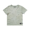 Munster Kids Fin Palm Tee - Washed Olive - Annie and Islabean
