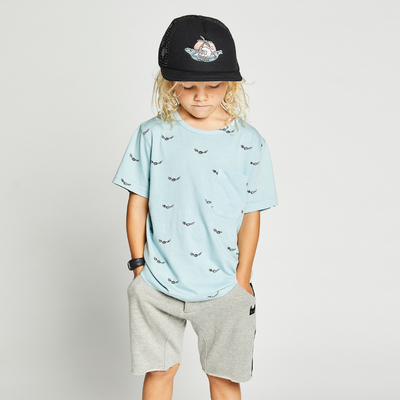 Munster Kids Flyby Tee - Washed Blue - Annie and Islabean