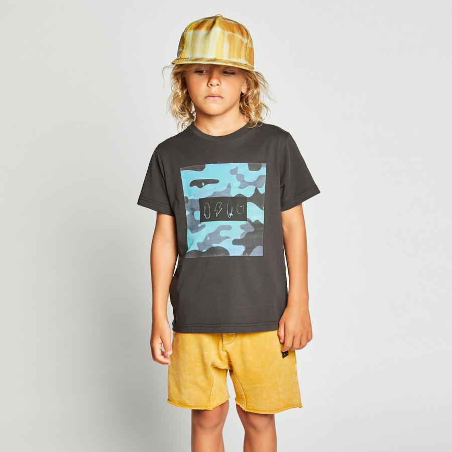 Munster Kids Icon Camo Tee - Soft Black