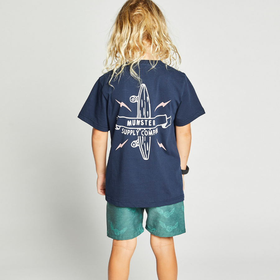 Munster Kids Logo Tee - Midnight