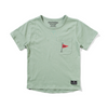 Munster Kids Rad Flag Tee - Shale Green - Annie and Islabean