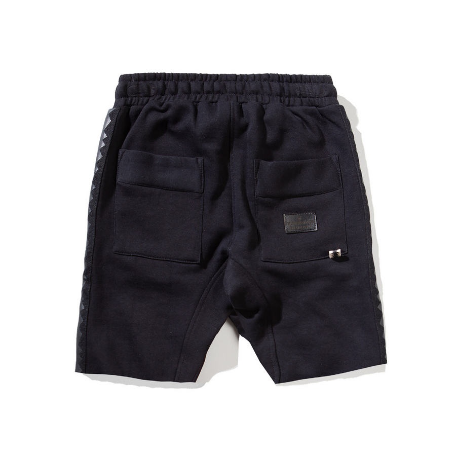 Munster Kids Shark Fleece Short - Soft Black