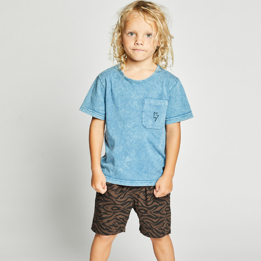 Munster Kids Sic Tee - Washed Blue