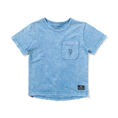 Munster Kids Sic Tee - Washed Blue - Annie and Islabean