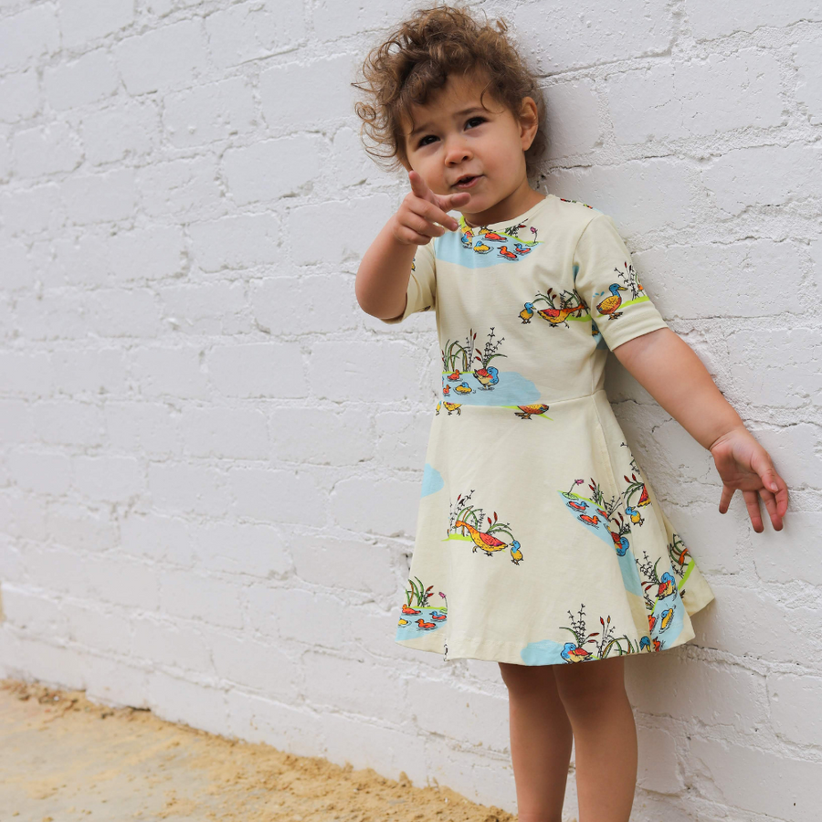 Oomph and Floss Duck Family Skater Style Dress