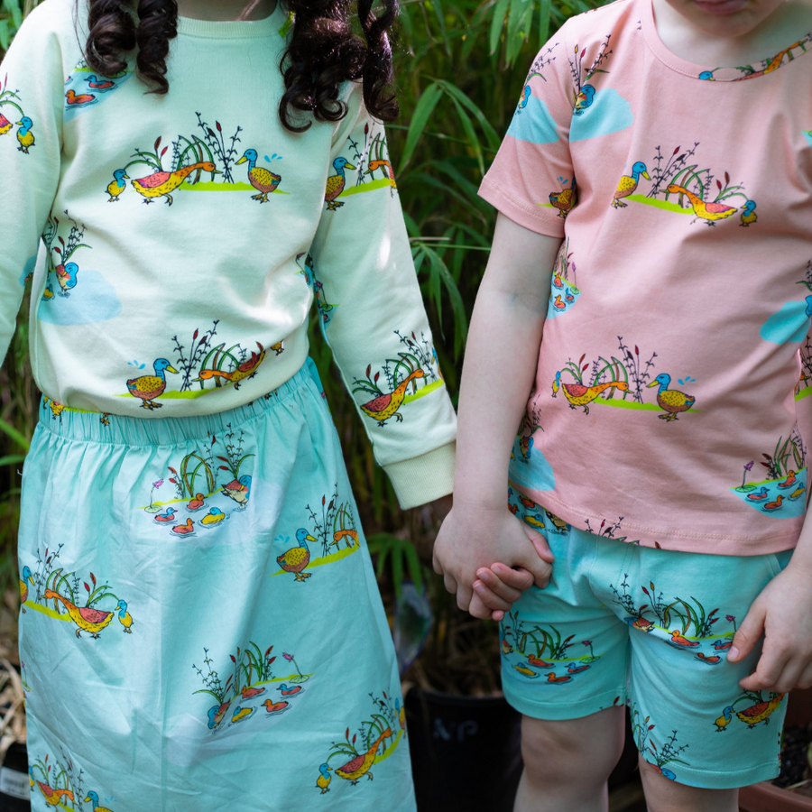 Oomph and Floss Duck Family Skirt - Annie and Islabean