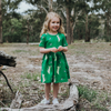 Ezra The Tabbycat Dress - Bottle Green, Oomph & Floss - Annie and Islabean