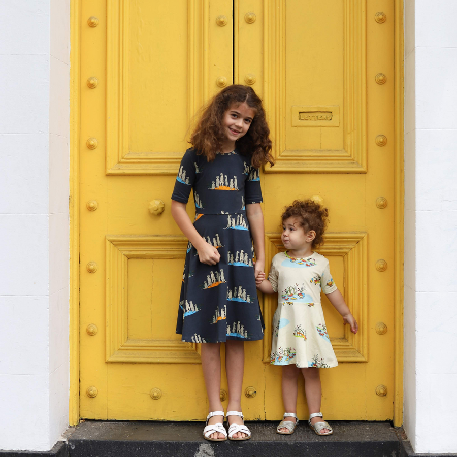 Oomph and Floss Meerkats Skater Style Dress - Annie and Islabean