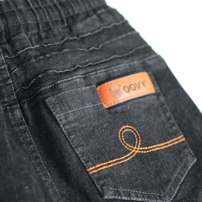 OOVY Black Distressed Denim Jeans