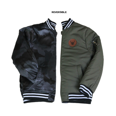 OOVY Dark Camo Reversible Jacket