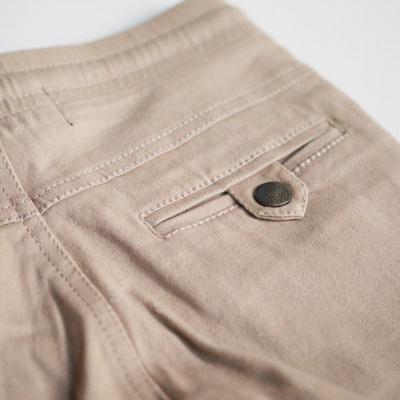 OOVY Latte Distressed Chino Pants