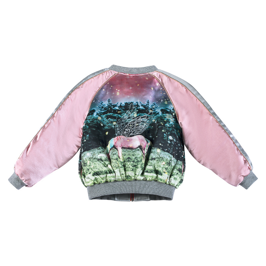 Paper Wings Dusk Satin Bomber